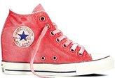 Converse Womens Chuck Taylor Lux Mid Hidden Platform Wedge (5 M US, Pink)