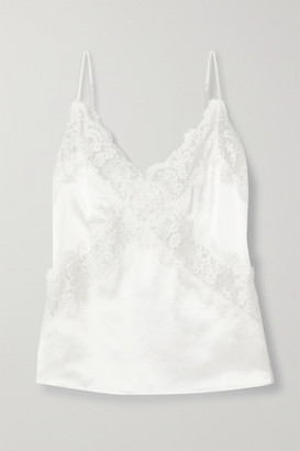 CAMI NYC The Dane Lace-paneled Silk-charmeuse Camisole - White