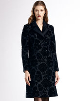 Gucci Double-Breasted Thistle Jacquard Coat
