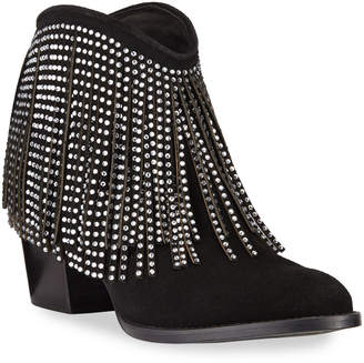 Zadig & Voltaire Molly Suede Strass Fringe Booties