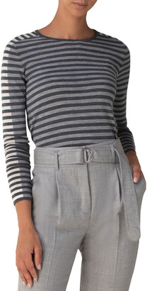 Akris Punto Signature Stripe Knitted Wool Pullover
