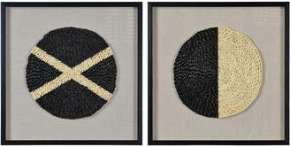 Kode Genero Straw-Weaved Wall Art