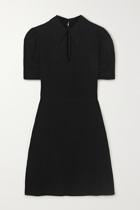 Stella McCartney Blair Cutout Crepe Mini Dress - Black