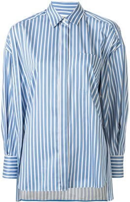 Enfold fitted cuff striped pattern shirt
