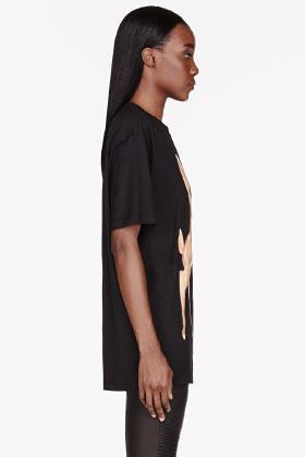 Givenchy Black Bambi Mashup print t-shirt