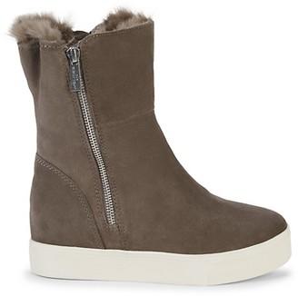 J/Slides Winnie Faux Fur-Lined Suded Mid-Calf Boots