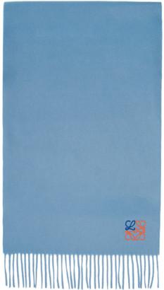 Loewe Blue and Orange Cashmere Anagram Scarf