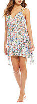 Lucky Brand Lucky Garden Faux Wrap Swing Dress Cover-Up