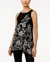 Alfani Petite Embroidered Swing Top, Only at Macy's