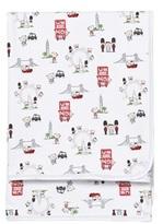 Kissy Kissy White London Landmarks Print Blanket