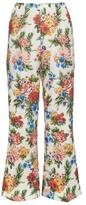 Emilia Wickstead Sammy woven floral-gazar trousers