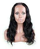 Nobel Hair U Part Human Hair Wig Body Wave 10A Grade Brazilian Virgin Hair Natural Black Color (26inch with 130% density)