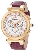 Salvatore Ferragamo Women's F77LCQ5091 SB42 Idillio Gold Ion-Plated Watch with Brown Leather Band
