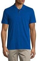 Vince Short-Sleeve Slub Polo Shirt, Vibrant Blue