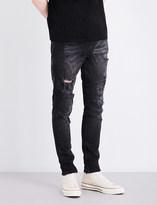 True Religion Mick distressed slim-fit skinny jeans