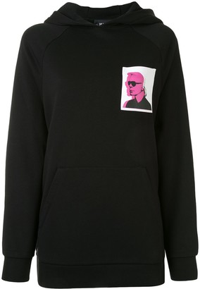 Karl Lagerfeld Paris legend print hoodie