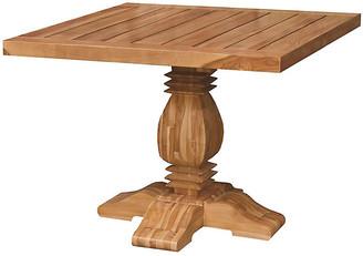 One Kings Lane Tuscan Teak Square Dining Table - Natural
