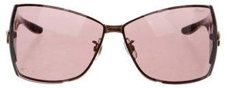 Chopard Logo-Embellished Shield Sunglasses