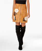 INC International Concepts Suede Appliquandeacute; Mini Skirt, Created for Macy's