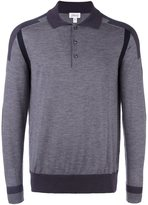 Brioni sleeve stripe polo shirt - men - Silk/Cashmere/Wool - 58