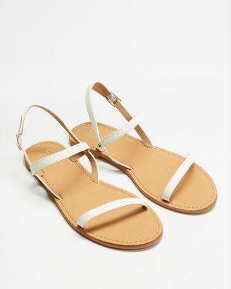 Spurr Women's White Flat Sandals - Tiarne Sandals - Size 5 at The Iconic