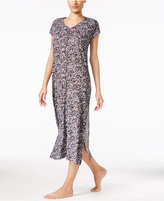 DKNY Short-Sleeve Printed Maxi Nightgown