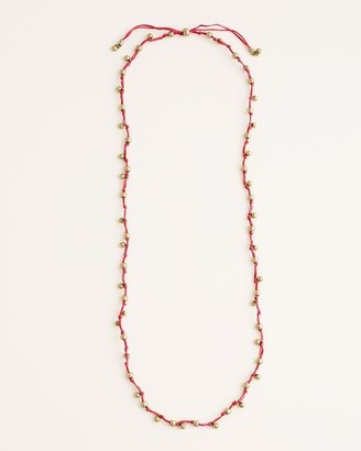 Chico's Long Cherry-Colored Beaded Necklace