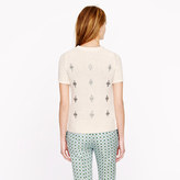 J.Crew Jeweled medallion sweater
