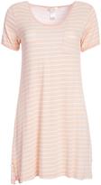 Kathy Ireland Bellini Stripe Short-Sleeve Sleep Dress