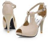 Caddy Wolfclaw Women's Sexy High Heels Platform Sandals Cute Bowtie T-strap Peep Toe Dress Sandals