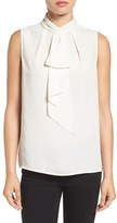 Vince Camuto Ruffle Tie Neck Sleeveless Blouse