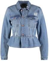 Vero Moda VMMERNY RUFFLE Denim jacket medium blue denim