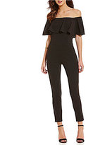 Sugar Lips Sugarlips Flounce Off-the-Shoulder Jumpsuit