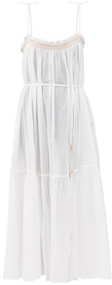 Loup Charmant Anacapri Smocked Organic Cotton Dress - White