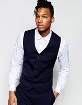 French Connection Slim Fit Tuxedo Waistcoat