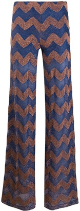 M Missoni Chevron-Print Flared Trousers