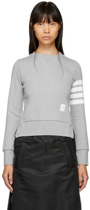 Thom Browne Grey Classic Four Bar Sweatshirt