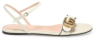 Gucci Marmont Leather Double G Sandals