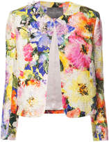 Monique Lhuillier embellished floral jacket