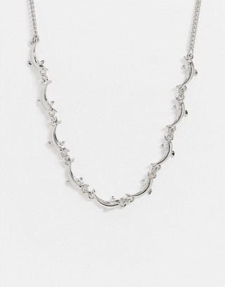 Topshop choker necklace with silver dolphins