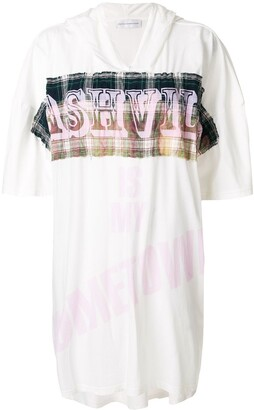 Faith Connexion print hooded oversize T-shirt