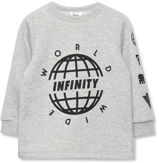 M&Co Infinity slogan sweatshirt (3-12yrs)