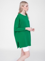 Beaumont Organic Adrian Oversized Cotton Knit in Green