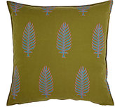LIFE by Muriel Brandolini Leaf-Print Pillow