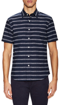 Jack Spade Clift Drawn Stripe Print Sportshirt