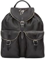 Giuseppe Zanotti Black Leather Boris Backpack