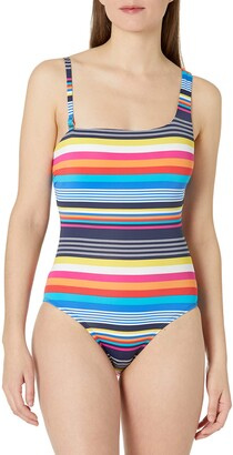 Nautica Women's Asymmetrical One Piece Swimsuit