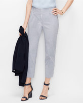 Ann Taylor Curvy Seersucker Crop Pants