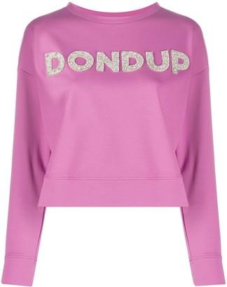 Dondup embellished logo sweatshirt