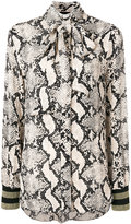 By Malene Birger snake print pussybow blouse